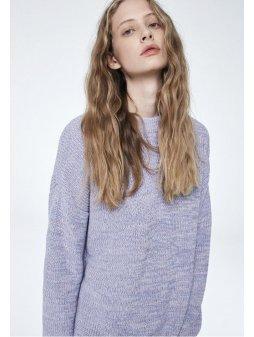 """Dámský levandulový svetr z biobavlny """"Anais Melange"""""""