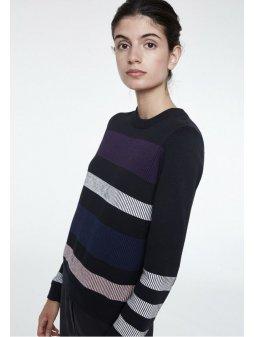 """Dámský pruhovaný svetr z biobavlny """"Oxana Bold Stripes"""""""
