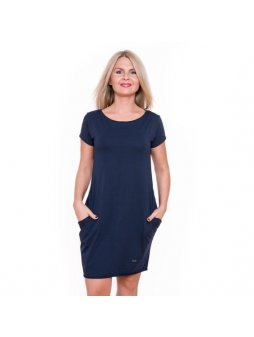 Dámské tmavě modré šaty AFRODITÉ s krátkým rukávem