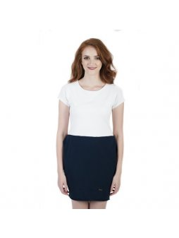 Dámské modro-bílé šaty AFRODITÉ s krátkým rukávem