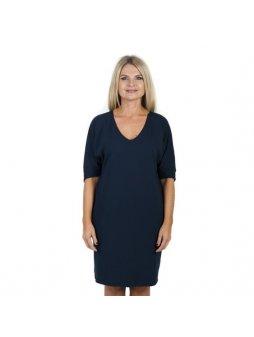 Véčkové tmavě modré šaty JUNO