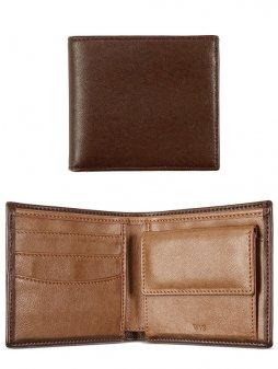 billfold coin wallet chestnut 1