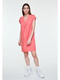 """Dámské růžové šaty z eukalyptu """"LENKAA PINK ROSE"""""""