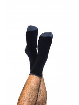 Termo ponožky z biobavlny - tmavě modré