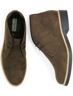 womens desert boots dark brown 4 new