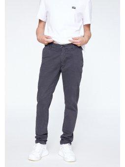 """Pánské tmavě šedé kalhoty z biobavlny """"EDVAAN ACID BLACK"""""""