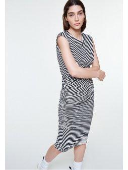 """e03a6e955388 Dámské pruhované šaty z biobavlny """"RAAYEN STRIPES"""""""