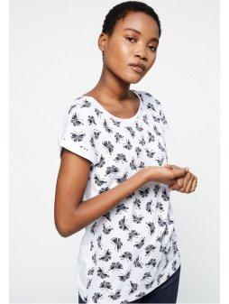 "Dámské tričko s potiskem z biobavlny ""LIVAA BUTTERFLIES"""