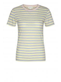 """Dámské pruhované tričko z biobavlny a eukalyptu """"Lida Bold Stripes Vanilla"""""""