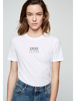 "Dámské tričko z biobavlny ""LIDAA LALALAMA"""