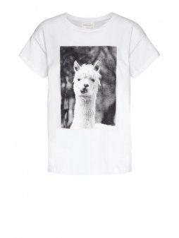 """Dámské bílé tričko NELAA LLAMA"""""""