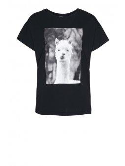 """Dámské černé tričko """"NELAA LLAMA"""""""