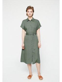 """Dámské zelené šaty na zapínání """"MARJAA FRESH OLIVE"""""""