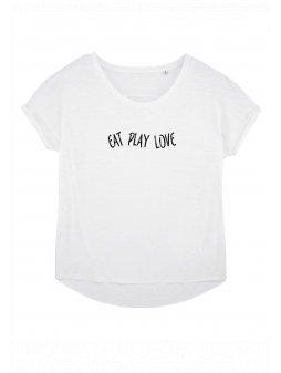 """Dámské tričko z biobavlny """"EAT PLAY LOVE"""""""