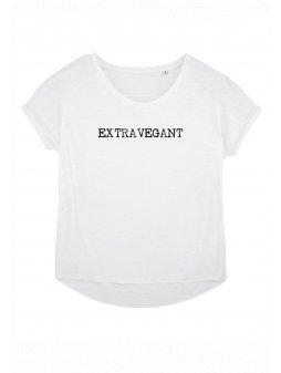 """Dámské tričko z biobavlny """"EXTRAVEGANT"""" design psací stroj"""