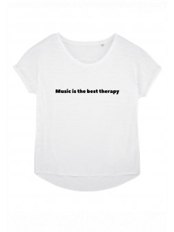 "Dámské tričko z biobavlny ""MUSIC IS THE BEST THERAPY"""