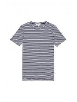 """Dámské pruhované tričko z biobavlny """"Lidaa Ring Stripes Evening Blue"""""""