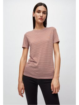 "Dámské pruhované tričko z biobavlny ""Lidaa Ring Stripes Evening Soft Violet"""