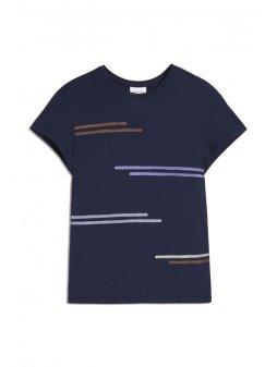 """Dámské tričko z biobavlny """"NELAA simple stripe"""""""