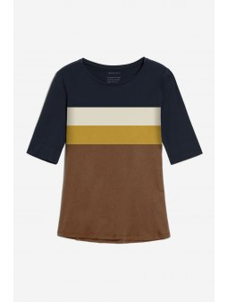 "Dámské tričko z biobavlny ""JANNAA colour block"""