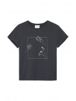 """Dámské tričko z biobavlny """"NELAA flower frame"""""""