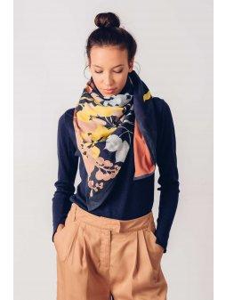 scarf organic cotton dot skfk 1 wsc00216 b9 ofb