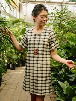 dress delridge tritone plaid m
