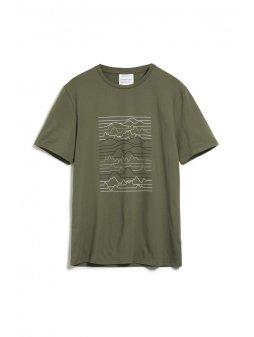 """Pánské zelené tričko z biobavlny """"JAAMES LINESCAPE"""""""