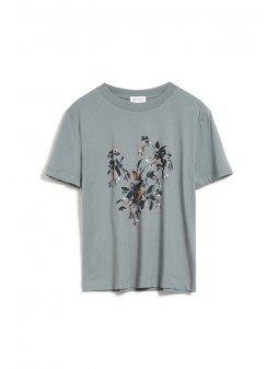 """Dámské tričko z biobavlny """"MIAA floral frame green"""""""
