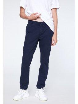 """Pánské tmavě modré kalhoty z biobavlny """"EDVAAN NAVY"""""""