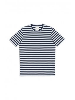 """Pánské pruhované tričko """"JAAMES BRETON"""" - bílá/navy"""