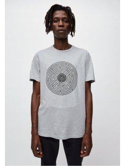 """Pánské šedé tričko s potiskem """"JAAMES LABYRINTH"""""""