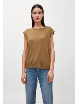 """Dámský hnědý top """"JILAA golden khaki"""""""