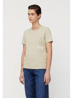 """Dámské tričko z biobavlny """"MARAA SAVE TOMORROW birch leaf"""""""