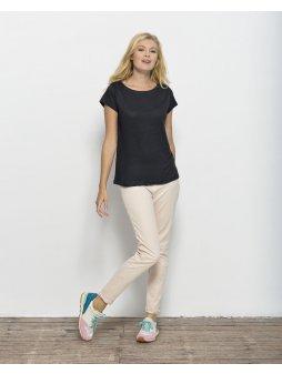 """Dámské lněné tričko """"Stella Glows Linen"""" černé"""