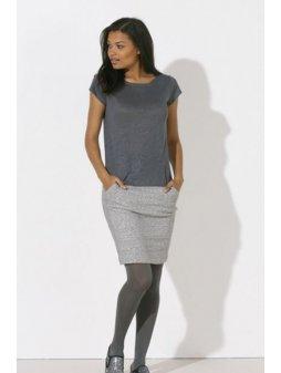 """Dámské lněné tričko """"Stella Glows Linen"""" šedé"""