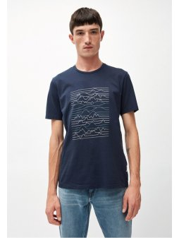 """Pánské tmavě modré tričko z biobavlny """"JAAMES LINESCAPE"""""""