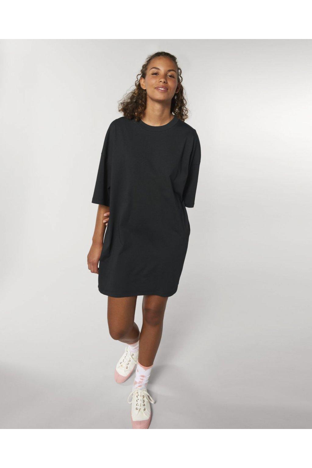 """Dámske jednoduché šaty """"Stella Twister Black"""""""