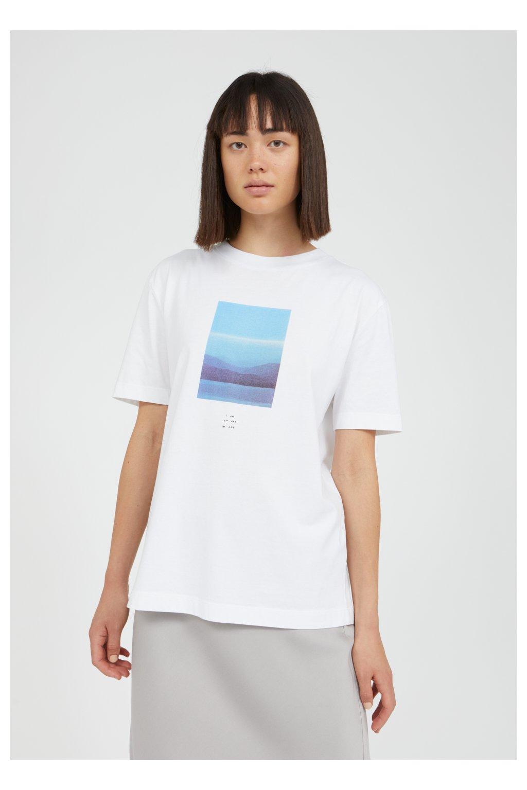 """Dámske biele tričko s potlačou """"MIAA I YOU WE ARE white"""""""