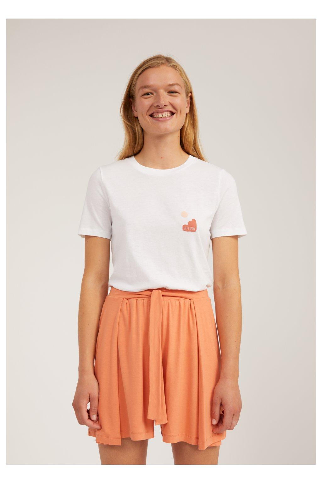 """Dámske biele tričko s potlačou """"LIDAA LITTLE ELEMENTS white"""""""