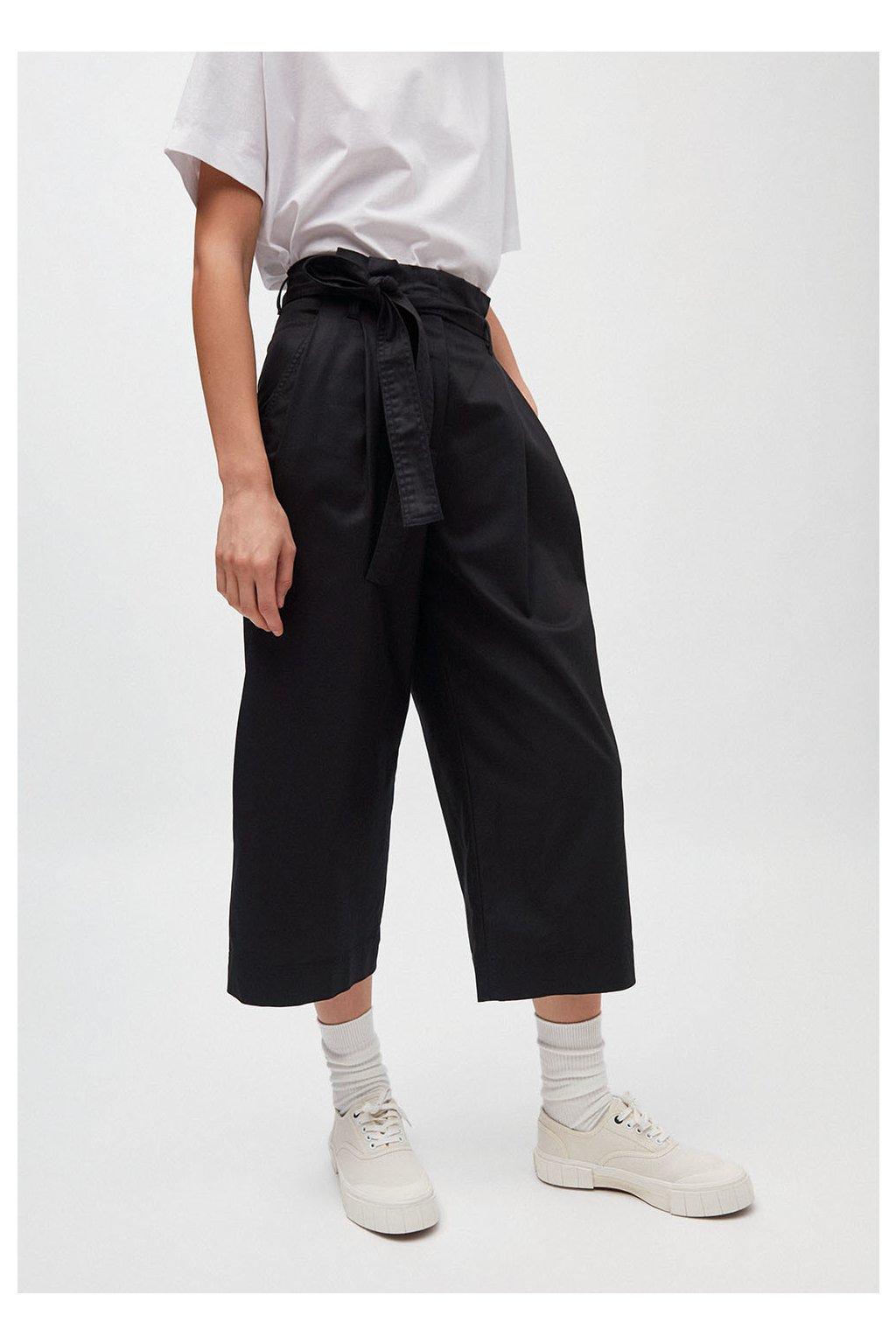 """Dámské černé culotte kalhoty """"VIOLETTAA black"""" (Velikost L)"""