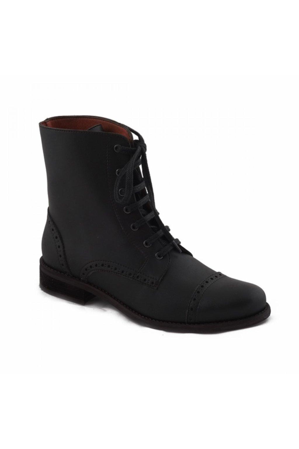 """Dámske čierne členkové topánky """"Alba"""""""