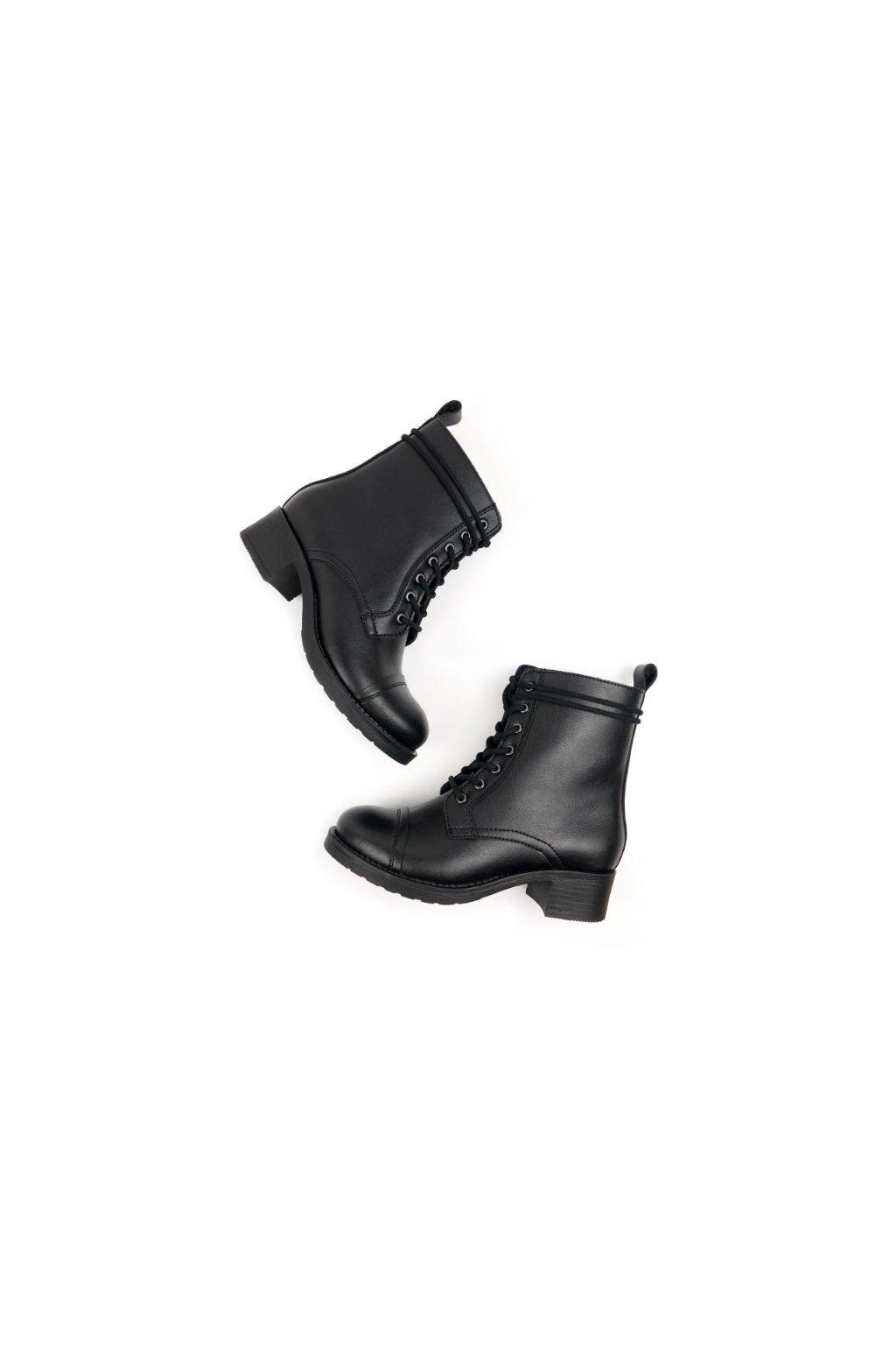 """Dámske čierne členkové topánky """"Aviator 2 Boots Black"""""""