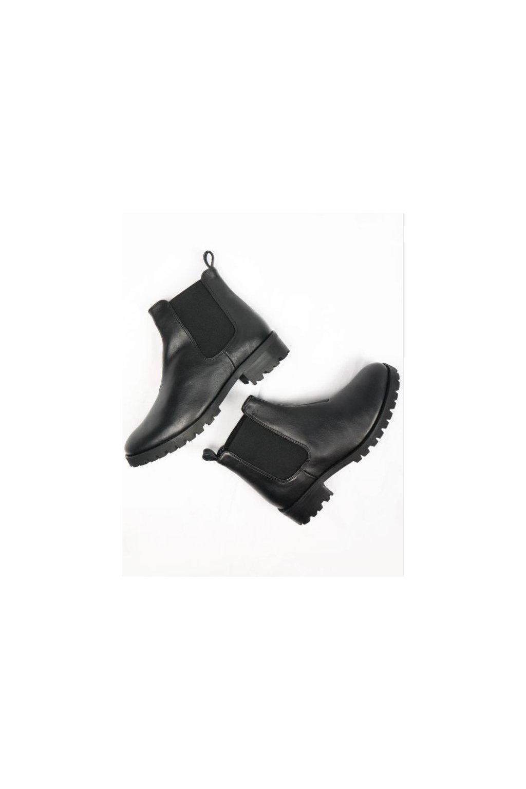 """Dámske čierne členkové topánky """"Deep Tread Chelsea Boots"""""""