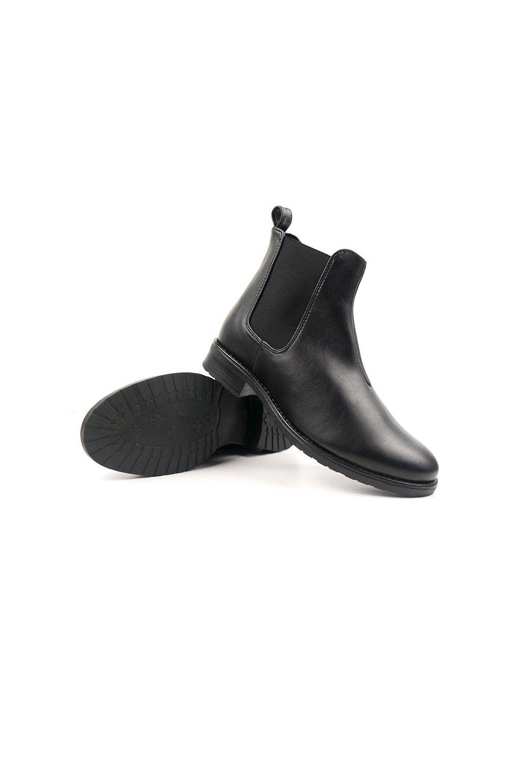 """Dámske čierne členkové topánky """"Smart Chelsea Boots"""""""