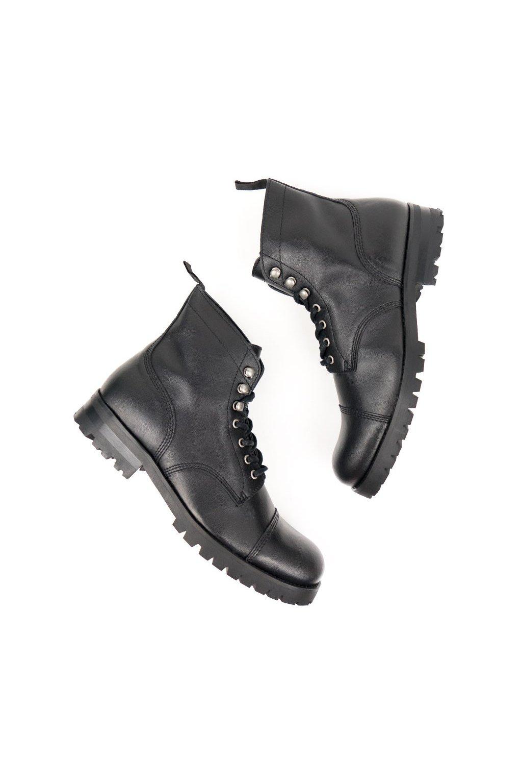 """Dámske čierne členkové topánky """"Work Boots Black"""""""