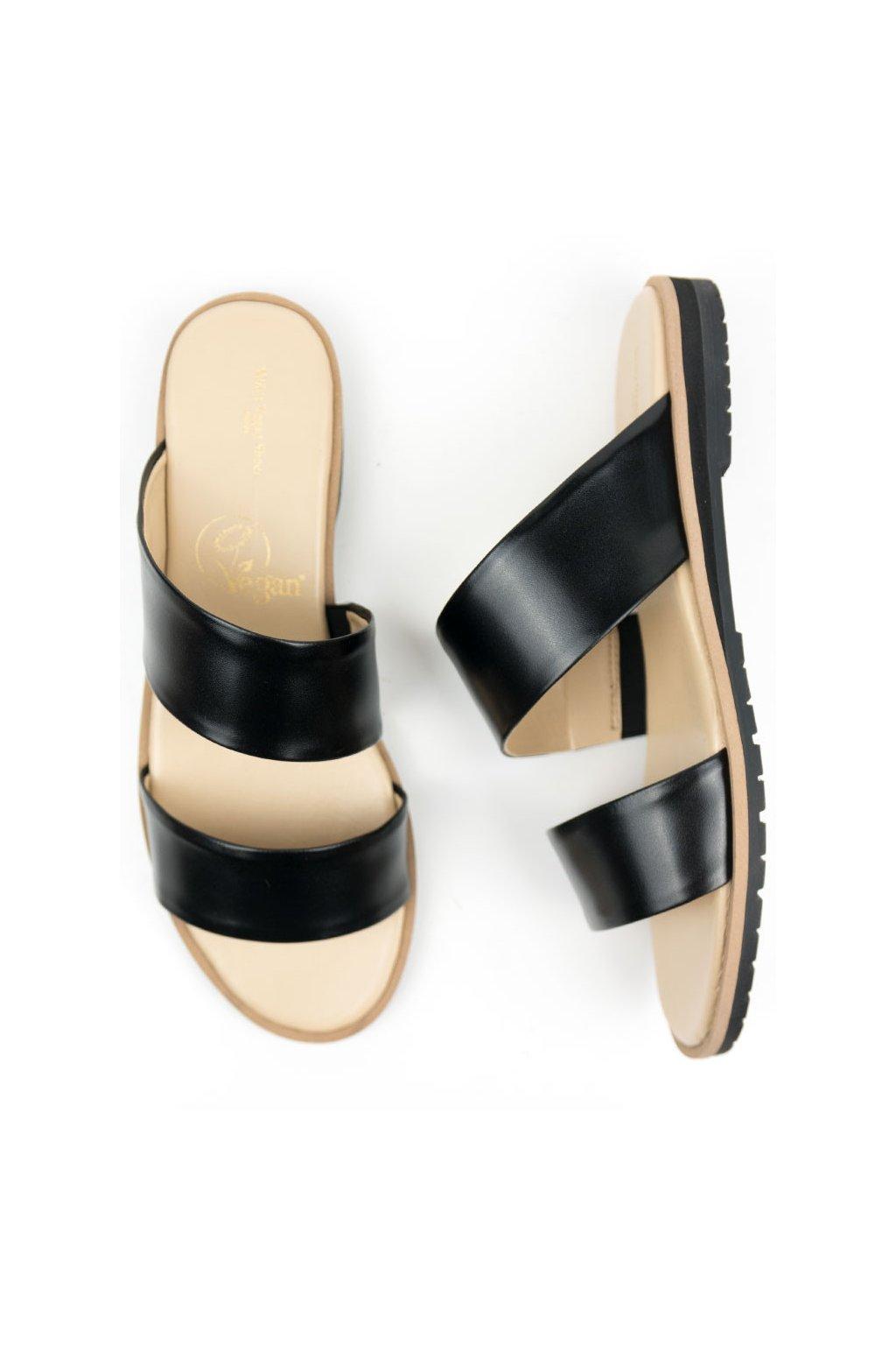 """Dámske čierne sandále """"Two Strap Sandals"""""""