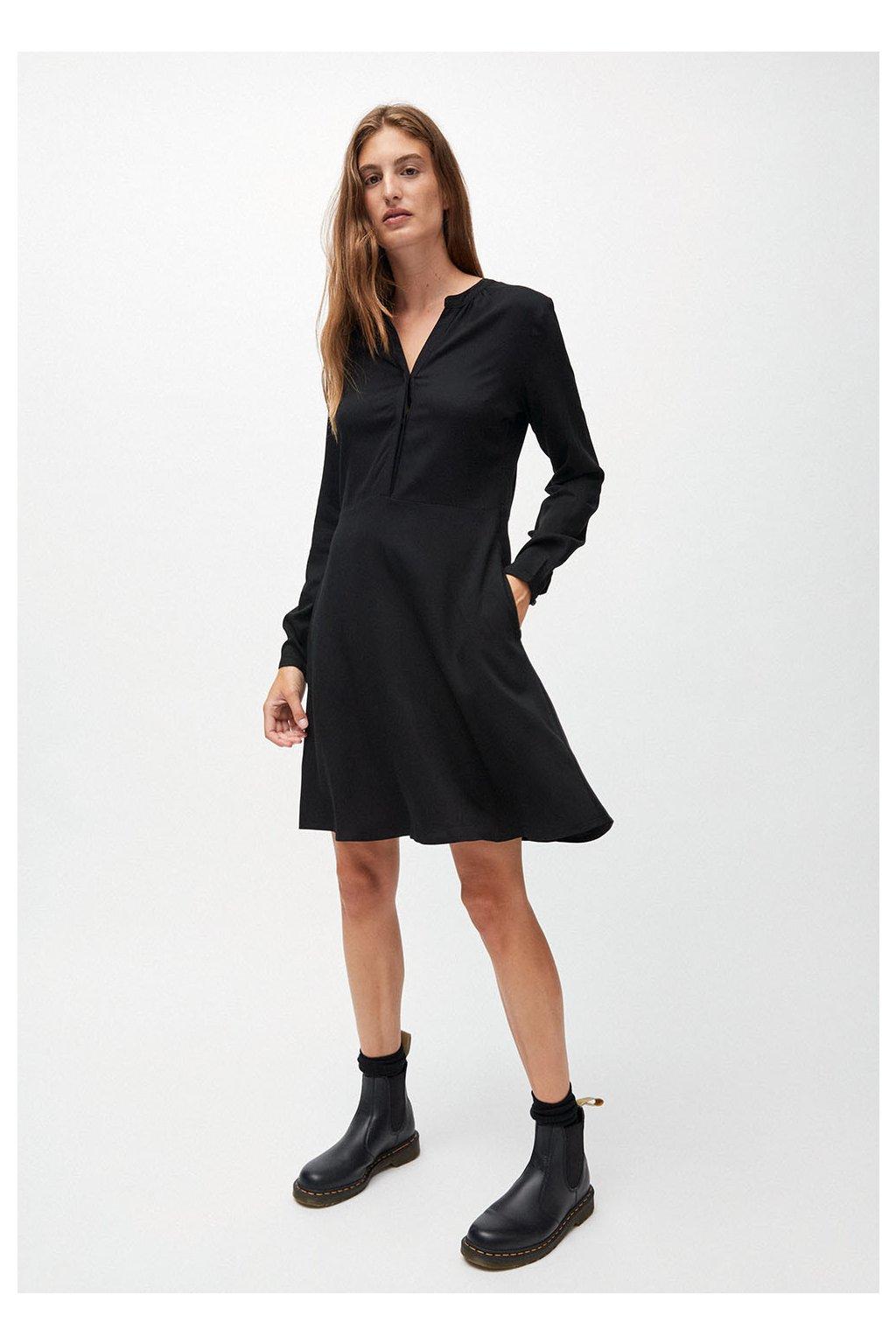 """Dámské černé šaty """"INAARI BLACK"""" (Velikost L)"""