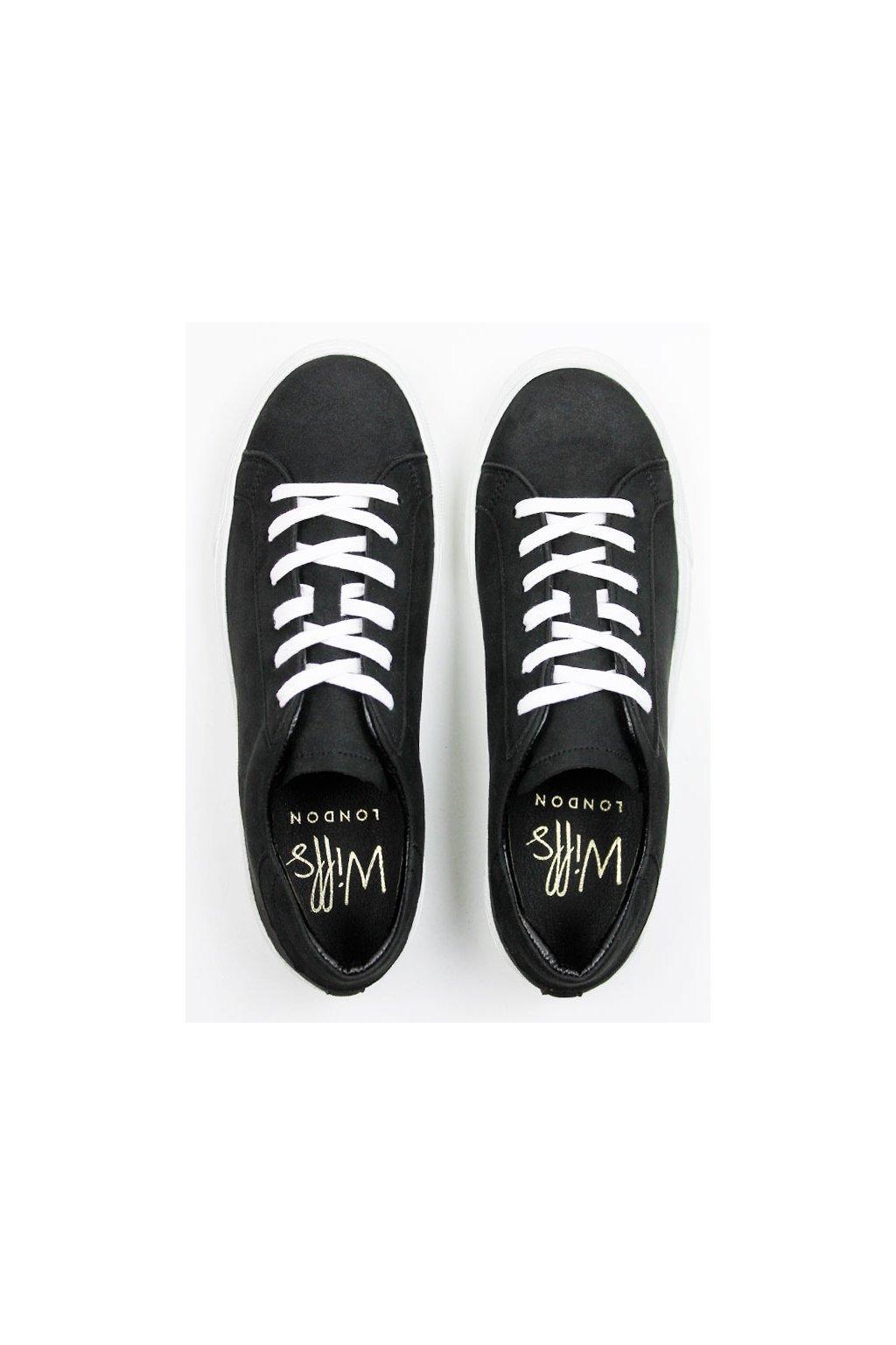 """Dámske čierne tenisky """"Low Sneakers"""""""