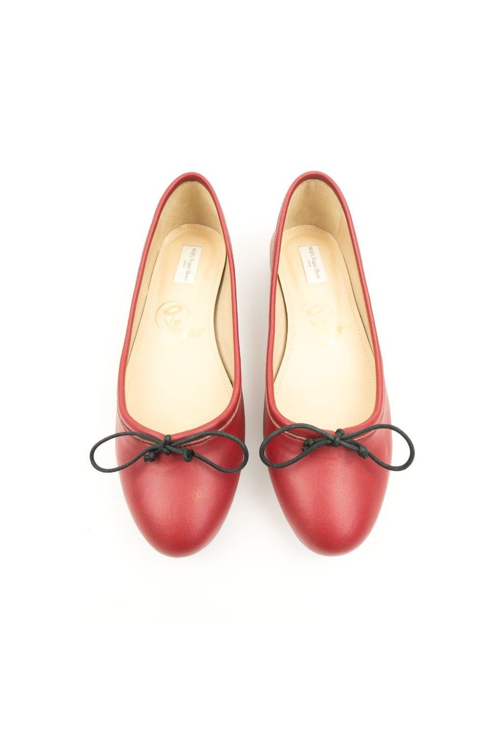 """Dámske červené balerínky """"Bow Tie Flats Red"""""""